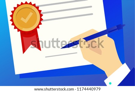 Paper sheet, hand, magnifier paperwork, consultant business adviser financial audit sign auditing tax process, big data analysis, seo analytics, financial research report market stats vector