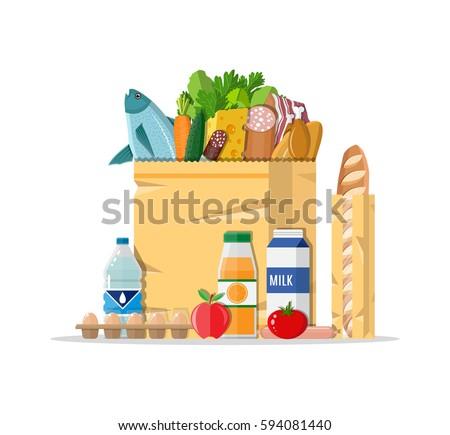 paper shopping bag full of