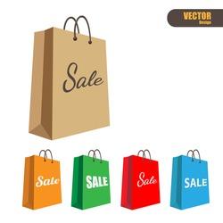 Paper shopping bag,vector