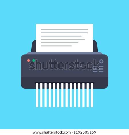 Paper Shredder Machine Vector Illustration. Foto stock ©