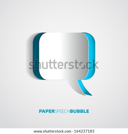 paper speech bubble   abstract