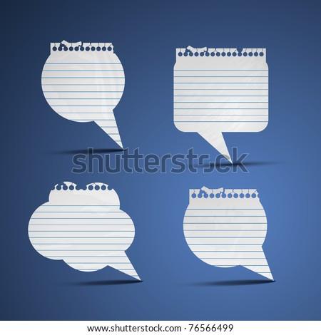 Paper speech bubbles - stock vector