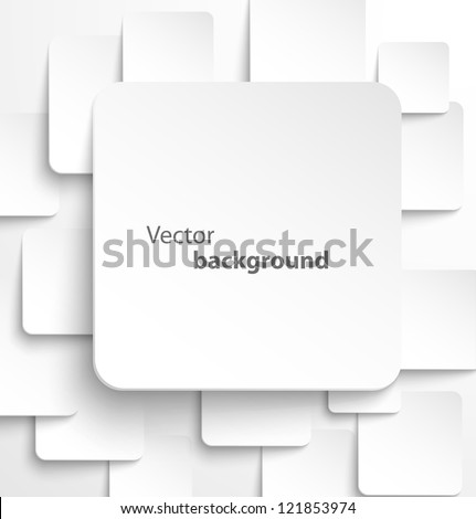 stock-vector-paper-square-banner-with-drop-shadows-on-white-background-vector-illustration