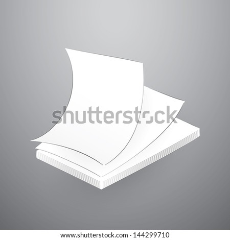 Paper Stack Illustration