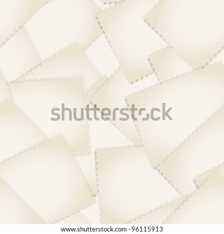 Paper stamps seamless background