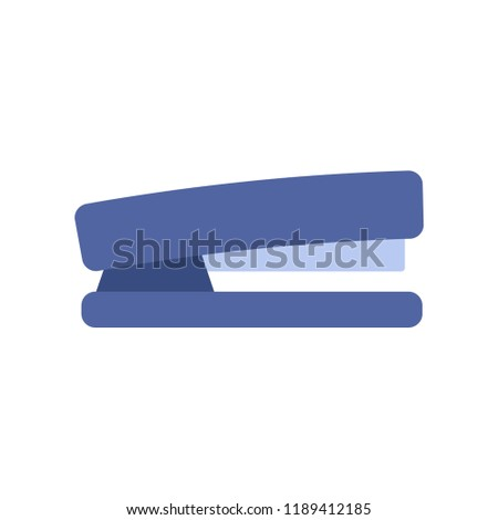 Paper stapler flat icon. You can be used stapler icon for several purposes like: websites, print templates, presentation templates, promotional materials, info-graphics, web and mobile phone apps.