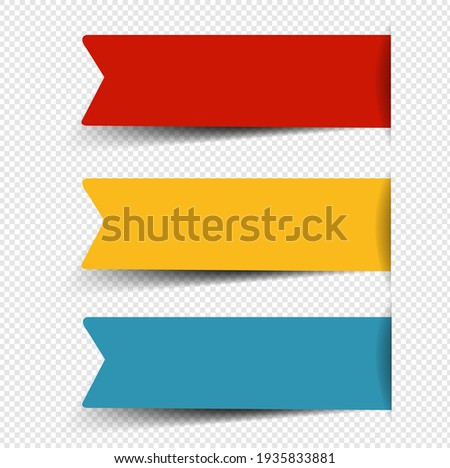 Paper Sticker Big Set Isolated Transparent background With Gradient Mesh, Vector Illustration
