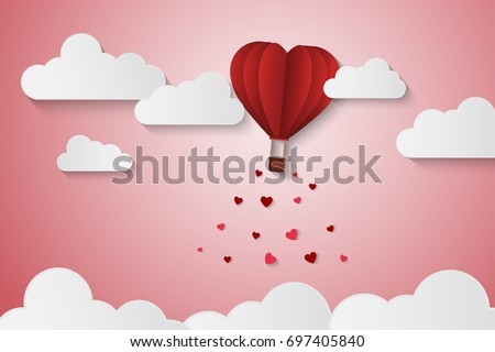 paper style love of valentine