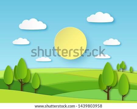 paper summer landscape