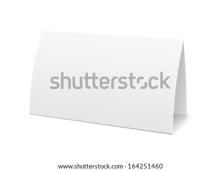 Paper table card, sign template vector illustration