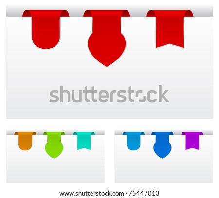 paper tags original shape