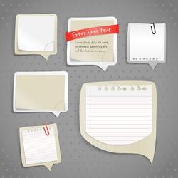 Paper text bubbles clip-art