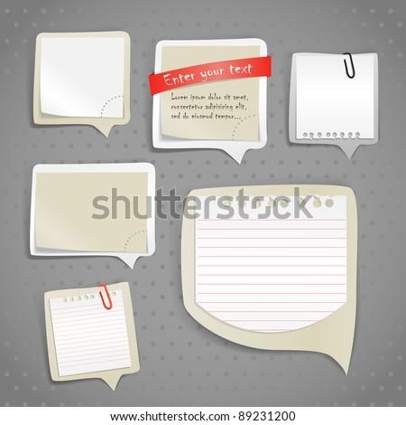 paper text bubbles clip art