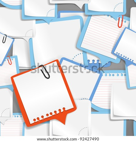 Paper text bubbles seamless background