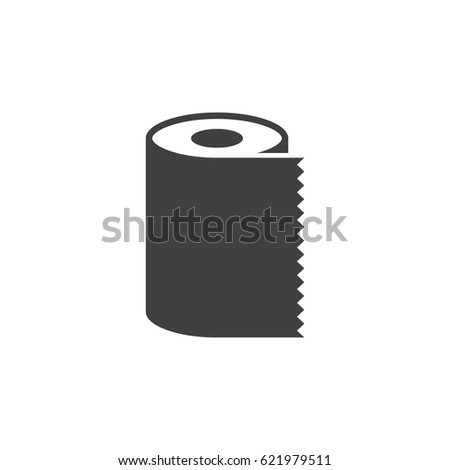 Paper Towel Napkin Roll icon on the white background
