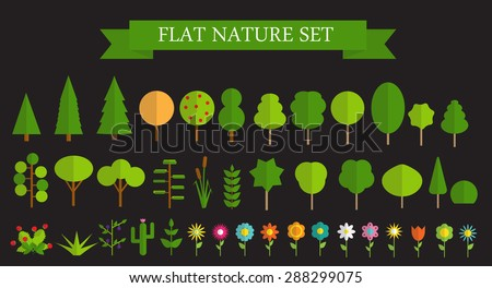 paper trendy flat trees and