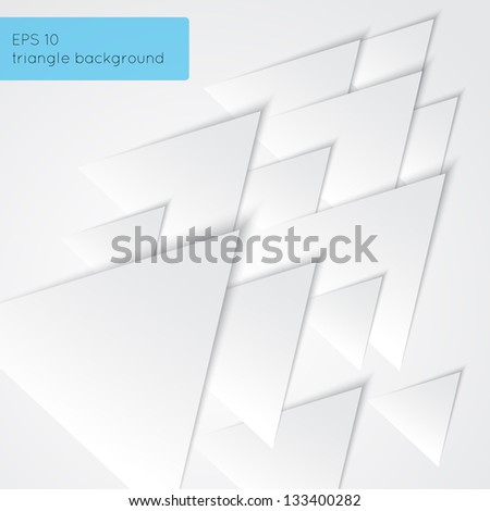 Paper triangles background. Can be used as background, for web design, business or other presentations. Just add your text