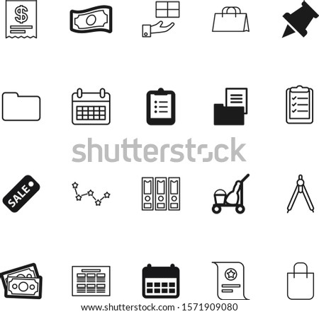 paper vector icon set such as: set, needle, capricorn, celebrate, broom, compass, amount, moon, receive, certificate, sell, choice, computer, report, questionnaire, binder, silhouette, horoscope