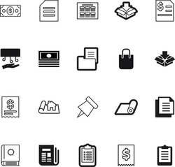 paper vector icon set such as: stack, cover, word, bulletin, reports, analytical, calculator, eps, healthy, press, apartment, flexibility, businessman, receipt, amount, baking, bullet, style, pattern