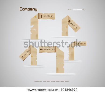 Paper Website - stock vector