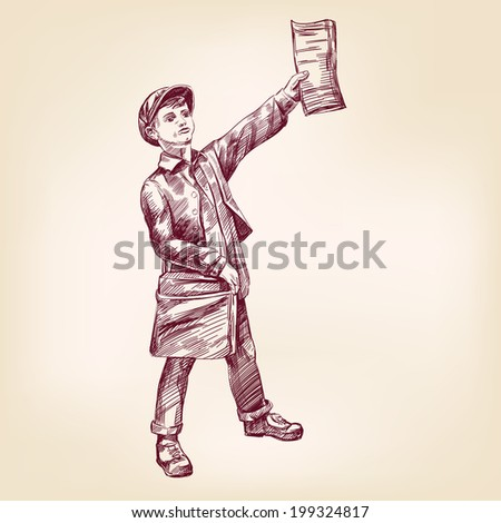 paperboy selling news papers...