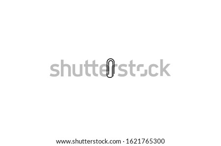 Paperclip document vector in white background. This paperclip document vector has an abstract shape documents. This paperclips document consists of a paperclip document and white background.