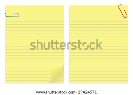 Papers and Clips - stock vector