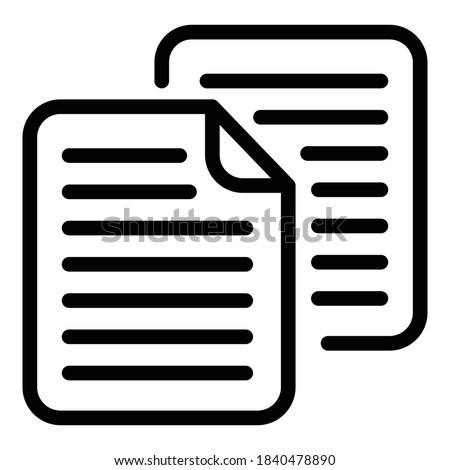 Papers scenario icon. Outline papers scenario vector icon for web design isolated on white background Foto d'archivio ©
