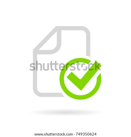 Paperwork completed vector pictogram on white background