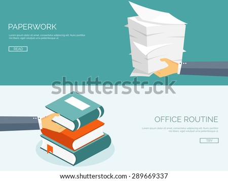 paperwork flat background with