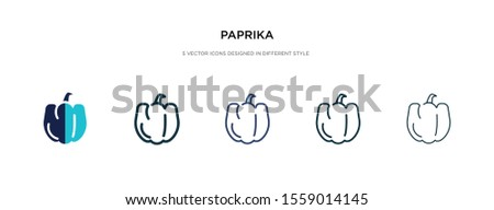 paprika icon in different style