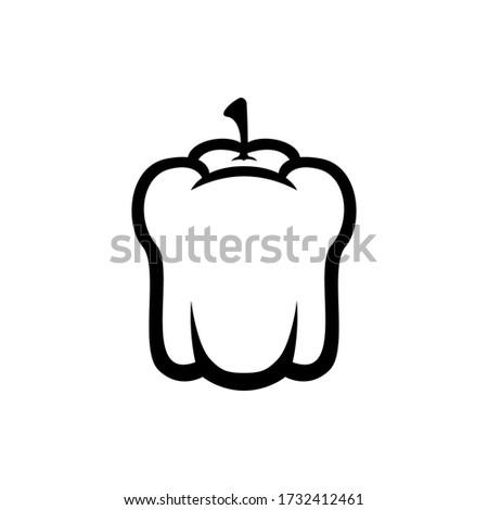 paprika icon vector paprika