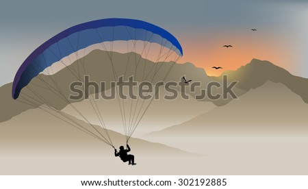 para glider hovers over the