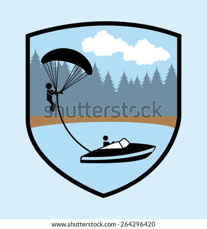 parachute fly design  vector