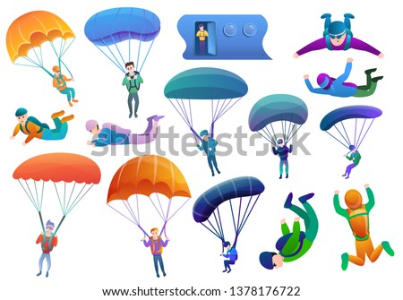 parachute skydiving vector