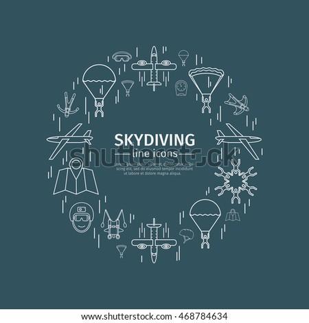 parachuting skydiving thin