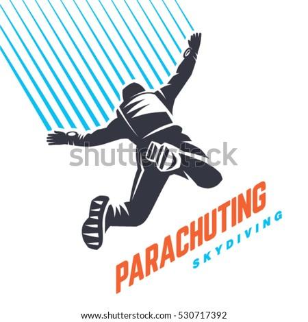 parachuting sport emblem