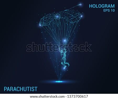 parachutist hologram