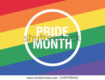 Parade vector background. Pride month parade poster.