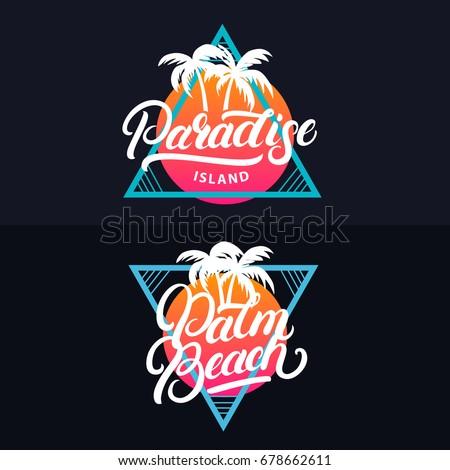 paradise island hand written