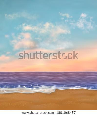 paradise sea beach with nobody