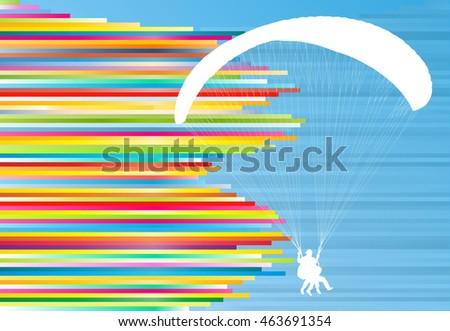 paraglider flying vector