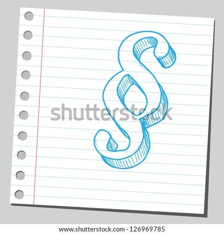 Paragraph symbol - stock vector