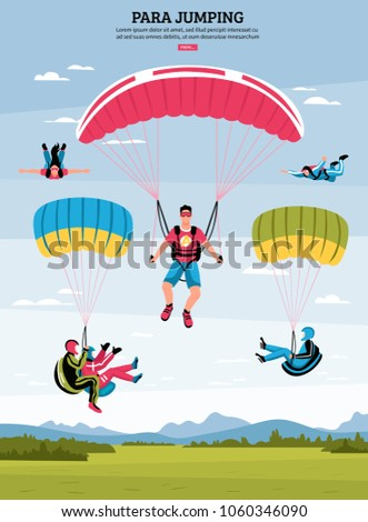 parajumping poster with