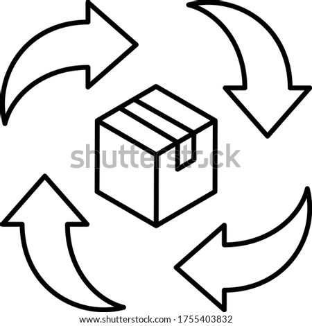 Parcel Delivery Processing and Lead Time Concept Vector Icon Design, Coronavirus contactless Courrier delivery symbol on white background, Touchless Grocery Delivery Sign, Photo stock ©