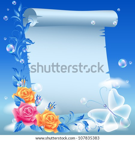 parchment and roses