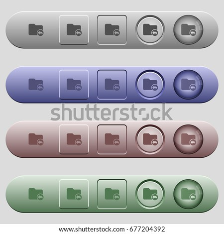 Parent directory icons on rounded horizontal menu bars in different colors and button styles #677204392