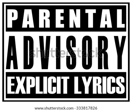 Shutterstock Parental Advisory Explicit Lyrics Sticker Sign, Vector Illustration.