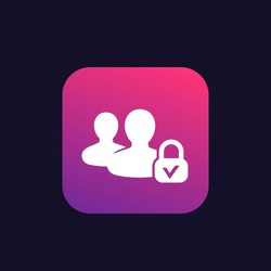 Parental control icon, vector