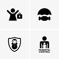 Parental control symbols